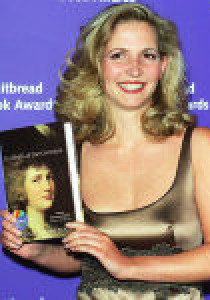 Amanda Foreman receiving the Whitbread award in 1999