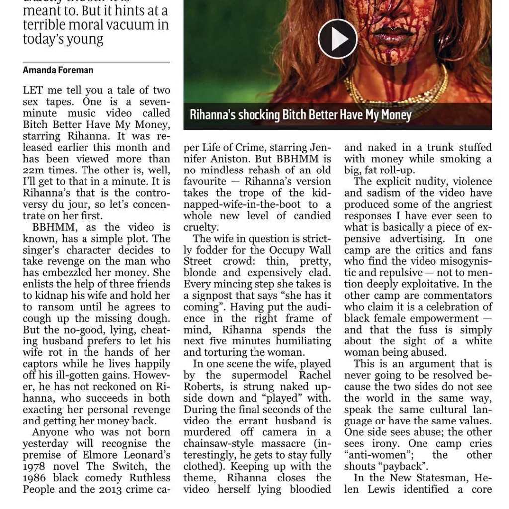 The rest of the Sunday Times article is on myhellip