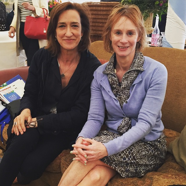 Anne McElvoy and Haydn Gwynne at Chalke Valley History Festival