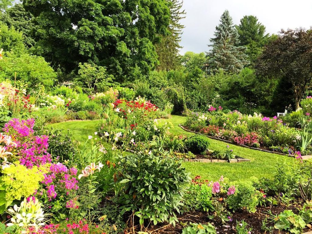Right before the storm hits the perennial garden