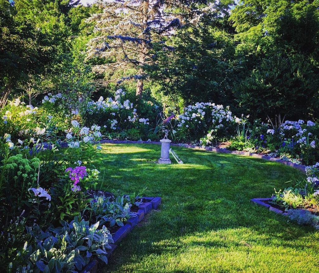 So cool and calm in the sun dial garden
