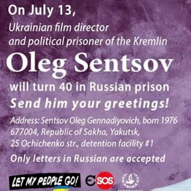Now hes 41 And still a prisoner freesentsov