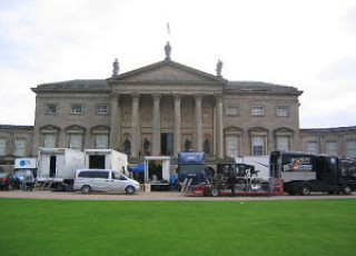 Kedleston taken over by the film crew