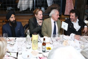 Photo: Waris Ahluwalia, Uma Thurman, Andrew Karsch and David Schwab at SpeakEasy. (Photo: Patrick McMullan)