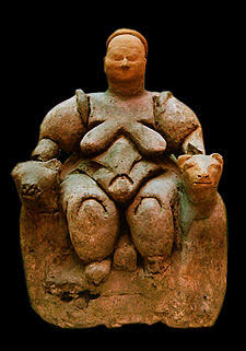 The Seated Mother Goddess of Catal Hüyük