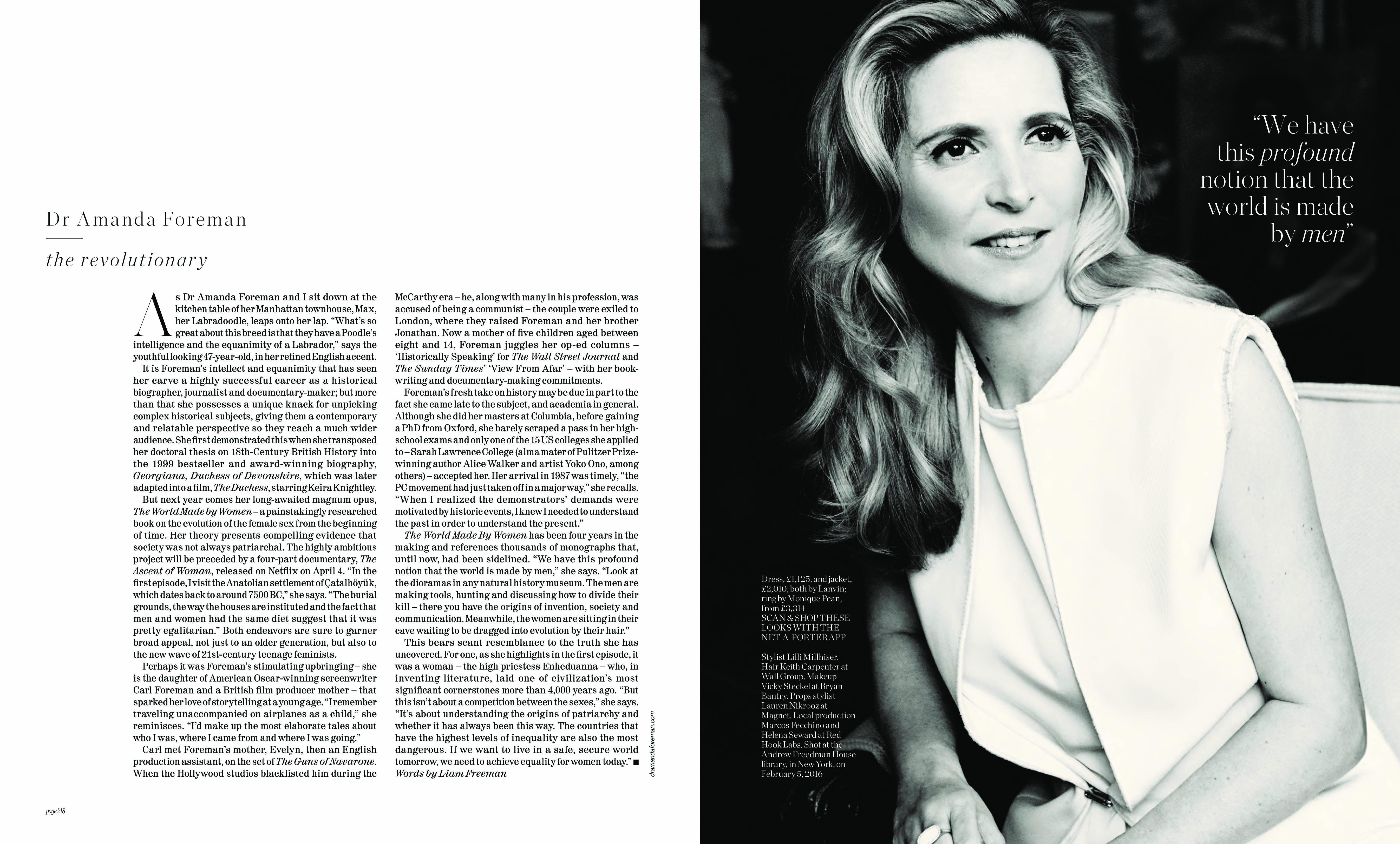 The History Girls\' - PORTER Magazine - Amanda Foreman