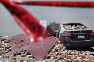 A 6.0-magnitute earthquake in Napa, Calif., on August 24, 2014, damaged buildings and caused injuries. PHOTO: RICK LOOMIS/LOS ANGELES TIMES/GETTY IMAGES