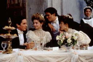 Weddings are happy affairs. What could possibly go wrong? From left, Christian Bale, Calista Flockhart, Dominic West, Anna Friel in 1999's 'A Midsummer Night's Dream.' PHOTO: FOX SEARCHLIGHT/EVERETT COLLECTION
